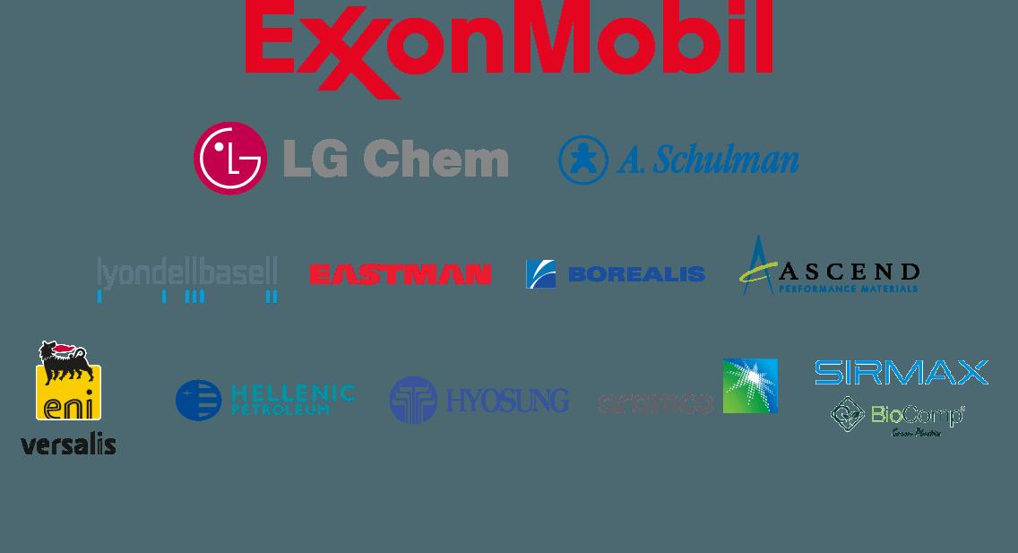 Various logos of Interpolimeri suppliers